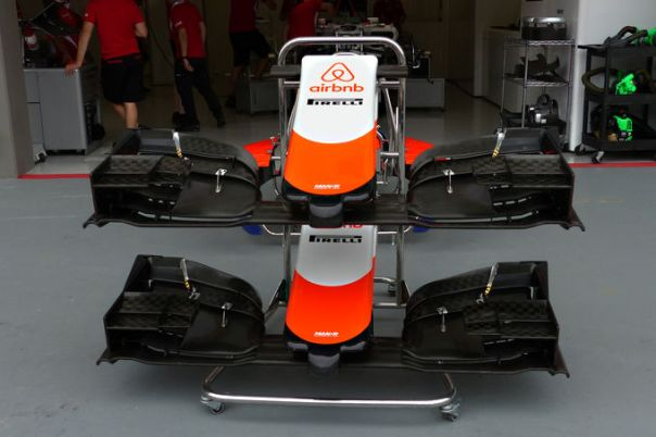 marussia front wing compare budgets