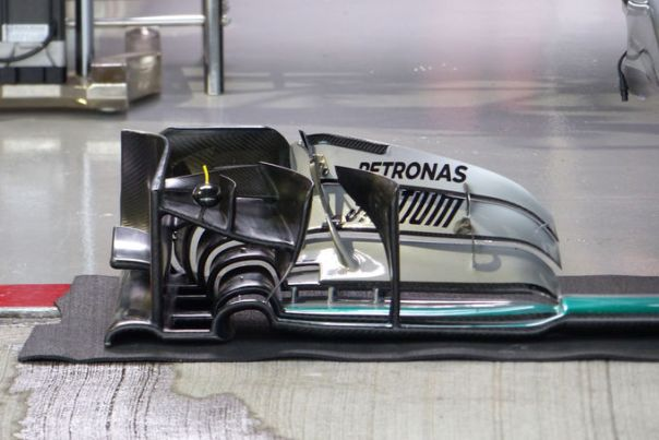 Merc front wing detail