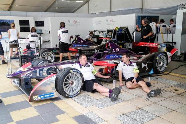 Team Virgin garage